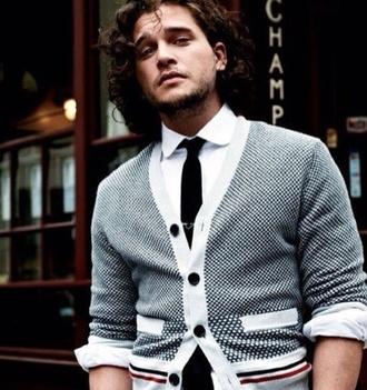 sweater mens cardigan cardigan men's stripes polka dots