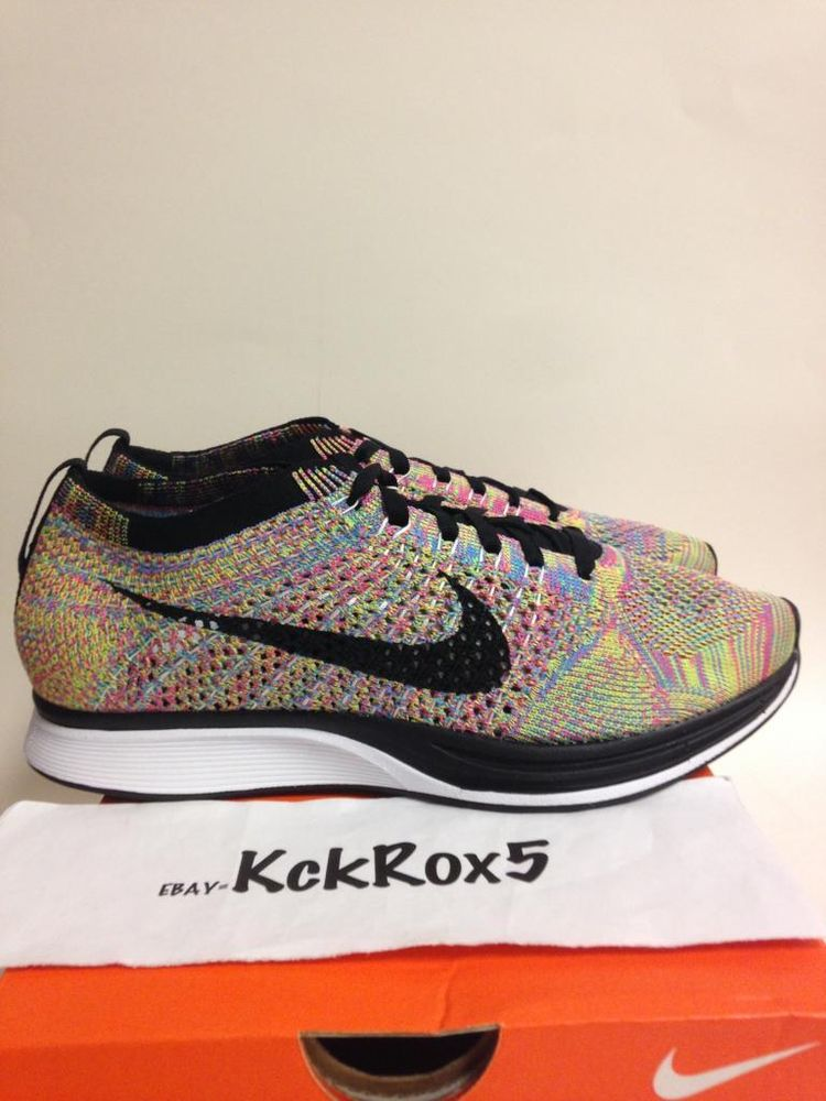 NIKE FLYKNIT RACER MULTICOLOR 4.5 6.5 CHEETOS HTM TRAINER WHITE CHUKKA MULTI