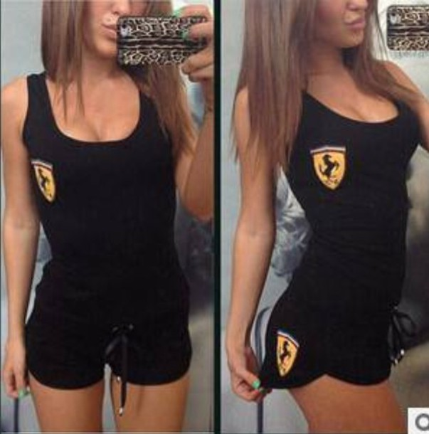 jumpsuit clothes ferrari top shorts