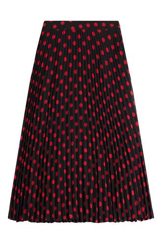 skirt pleated print