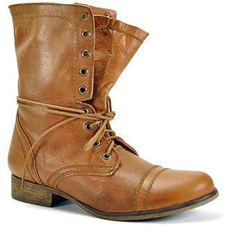 Steve Madden - Troopa - Tan Leather Combat Boot