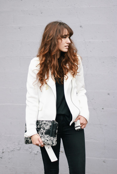 clutch blogger jacket the mop top jeans animal print faux fur perfecto
