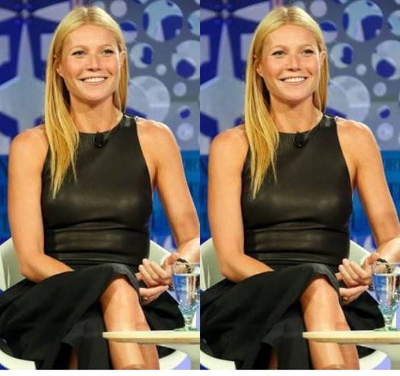 gwyneth paltrow top leather top