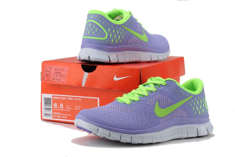 Cheap Nike Free 4.0 V2 Womens Shoes Lavender Green [517527 519]