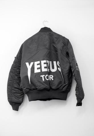 jacket t-shirt black jacket yeezus bomber jacket kanye west yeezy