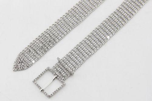 Silver Full Rhinestone Diamante/Diamond Ladies Waist Charm Fashion Belt - 568