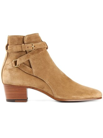 boots ankle boots brown shoes