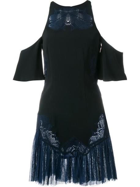 Jonathan Simkhai dress embroidered women spandex cold black silk
