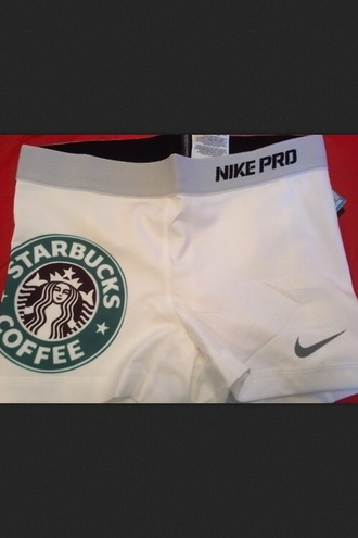 shorts nike spandex starbucks logo nike sports shorts starbucks coffee