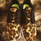 Leopard cheetah animal print nike roshe run custom sneakers