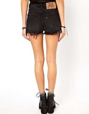 ASOS | ASOS Reclaimed Vintage Levi 501 Shorts in Black at ASOS