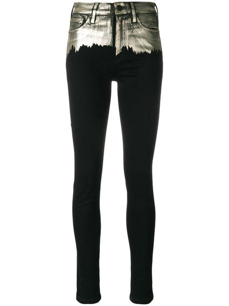 Vivienne Westwood jeans skinny jeans metallic women spandex cotton black