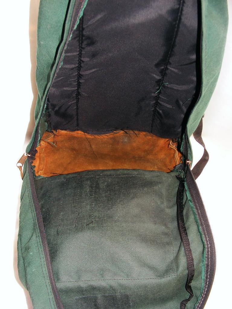 50ea150179 Vintage Jansport Backpack Jansport Green Canvas With Brown ...