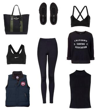 krystal schlegel blogger bag shoes underwear sweater tank top leggings jacket