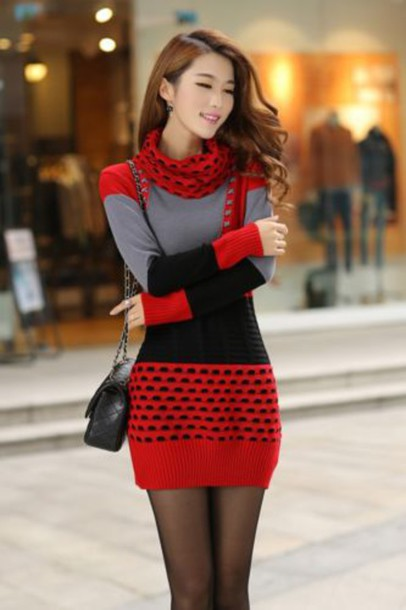 Sweater: winter sweater, spring sweater, red sweater, fashion ...
