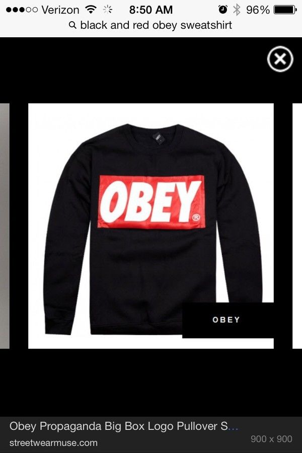 sweater obey sweater black