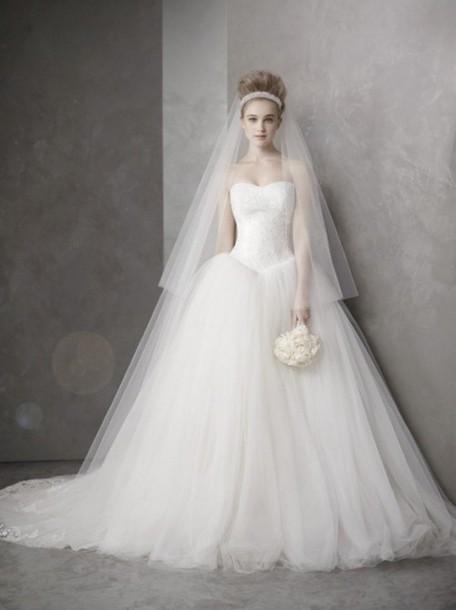 dress wedding dress princess wedding vera wang vera wang