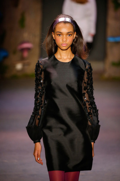 dress black fashion week 2015 fashion