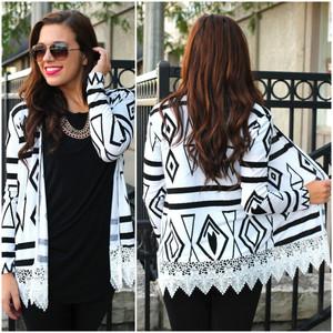 tribal pattern aztec cardigan knitwear ikat