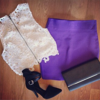 skirt wow couture bandage skirt mini skirt purple skirt neon