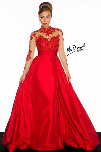 dress red lace red dress lace dress long formal dress
