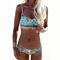 Sexy print beach sling bikini swimsuit swimwear om160493