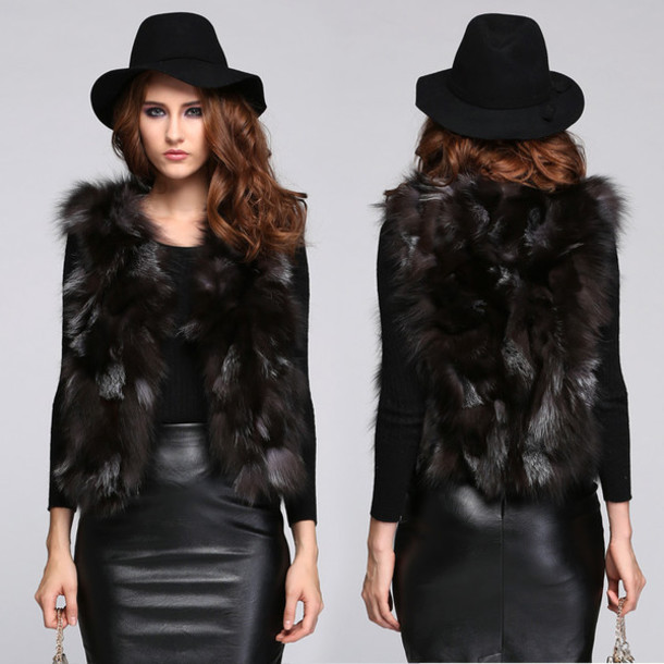 coat fur vest vest fur