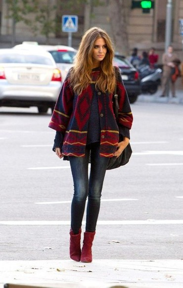 aztec jeans jacket cape aztec coat winter outfits cape coat
