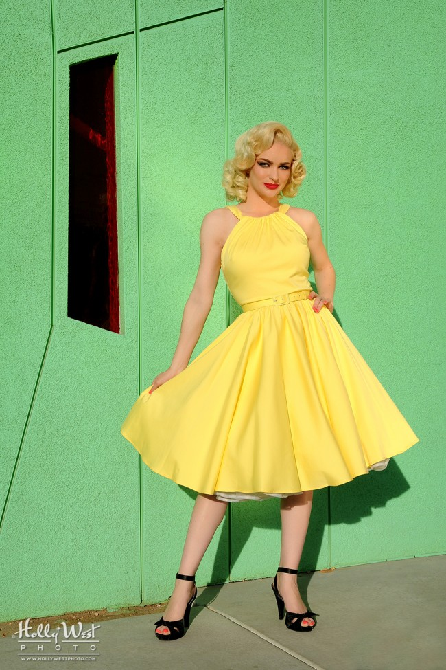 Pin Up Girl Clothing Com Simple Pinup Couture Harley Dress In Pastel Yellow Pinup Girl Clothing