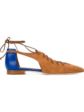 sandals flat sandals lace brown shoes