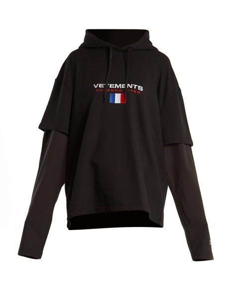 Vetements sweatshirt layered black sweater