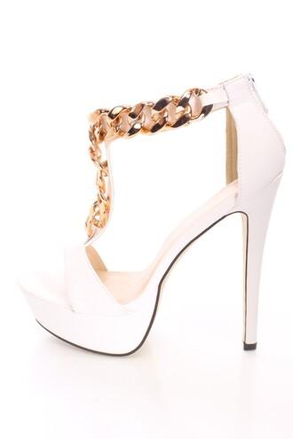 shoes heels gold chain sexyfashion shoegame sexy heels