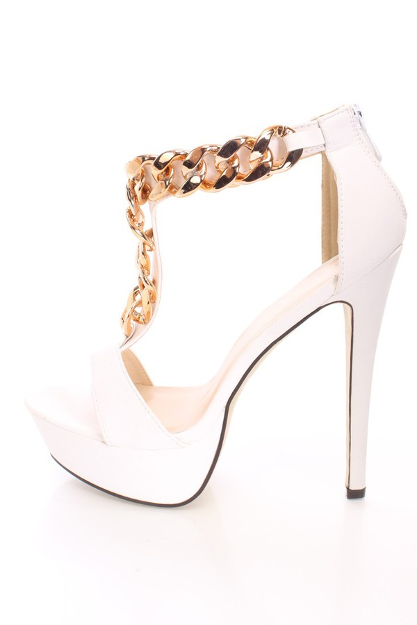 shoes heels gold chain gold chain sexyfashion shoegame sexy heels