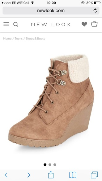 shoes wedges beige boots winter boots