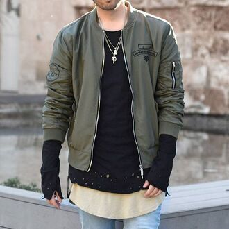 jacket maniere de voir flight jacket army green jacket ma1 bomber jacket khaki 36683