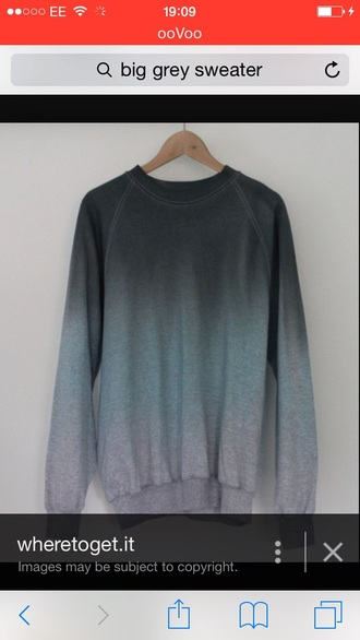 sweater grey sweater blue sweater ombré sweater casual dip dye casual have to have