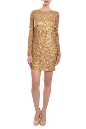 Aidan mattox stunning sequin long sleeve cocktail evening dress at amazon women's clothing store:
