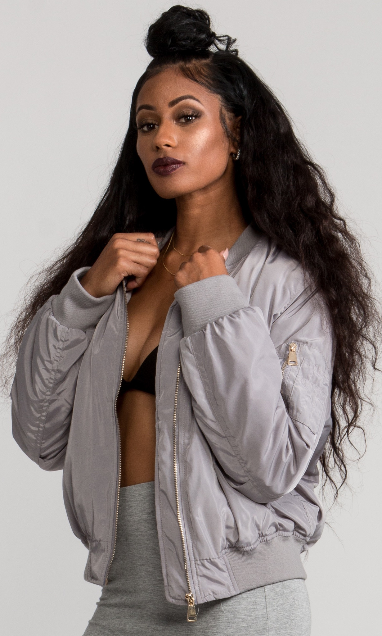 SKIES OVERSIZED FLIGHT SCHOOL BOMBER JACKET
