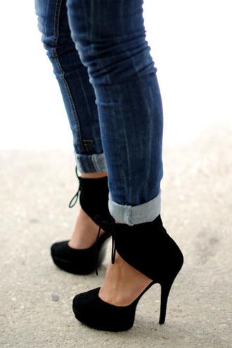 shoes black heels high heels black shoes black shoes heels jeans pants black pumps