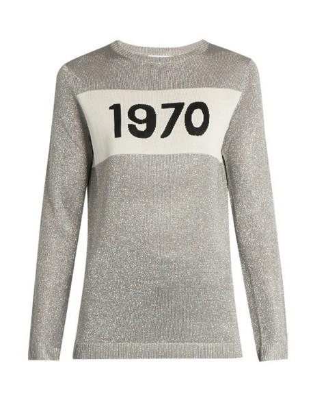 sweater sparkle silver