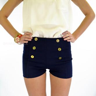 shorts ponte sailor shorts navy shorts nautical short shorts spring outfits summer beach coastal