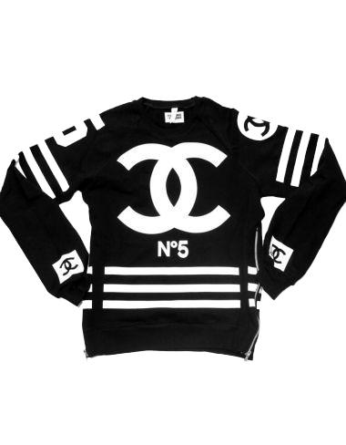 Coco chanel hockey sweatshirt (black)