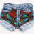 Willow Ethnic Vintage Studded Shorts - Denim | RUNWAYDREAMZ