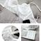 Ella lace unlined longline bralette & panty set (white)