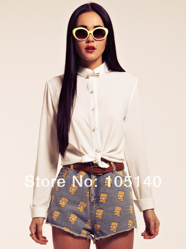 2013 New Korean Summer Women Vintage High Waist Denim