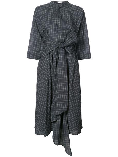 Tome dress shirt dress women cotton black