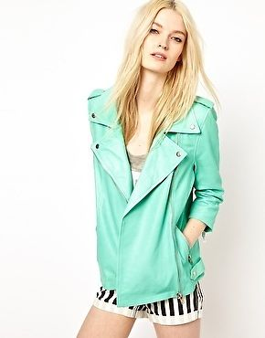 HIDE Jamie Longline Leather Biker Jacket in MINT size L -UK 14 - US 10 rrp £350 | eBay