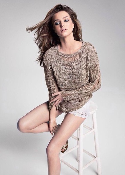 Celebrity style shorts shirt sweater white sexy clothes fluffy jumper
