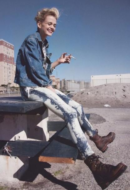Jeans Acid Wash Acid Wash Grunge Hipster 90s Style Fashion