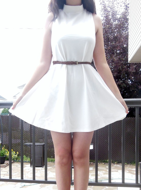 cute girly white dress tumblr vintage